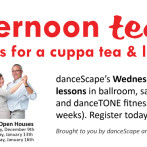 Join us for a cuppa tea & learn to dance at danceScape's teadances!